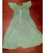 Vintage Sleepwear Nightgown Emerald Green Sheer Maxi Loungewear JCP Excl... - $250.00