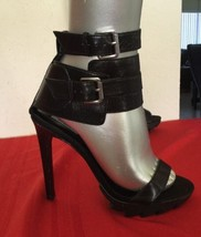Steve Madden Ttarzana Leather Black High Heels 8.5M - $32.73