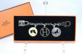 Hermes Breloque Olga Silver Charm Bag Amulette Palladium Berloque Cadena... - $1,772.10