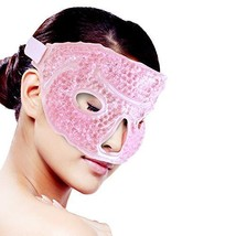 Ice Face/Eye Mask for Woman Man, Hot/Cold Reusable Gel Beads ice Mask wi... - $14.45