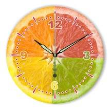 Modern Lemon Wall Decoration Wall Clock With Waterproof Clock Face Fashi... - €28,17 EUR