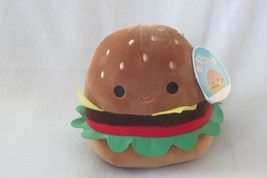 "Squishmallow 8"" Carl The Burger KellyToy BNWT Plush Toy Animal - $25.00"