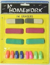 Erasers - Asst. Sizes & Colors - 14 Pack 48 pcs sku# 1192751MA - $69.67