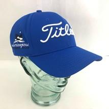 Titleist NEW ERA Baseball Golf Hat Cap Medium-Large Blue - $26.72