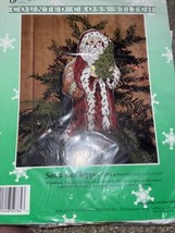 Something Special Santa Tree Topper Counted Cross Stitch Kit 50784 NEW COMPLETE - $24.26