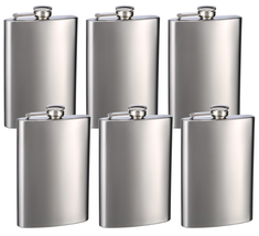 Personalized Set of 6 8 oz Hip Flask by Top Shelf Flask - $49.99