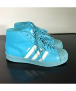 Adidas Pro Model Women's Size 6  Blue Casual Mid High Top Shoes - $26.73