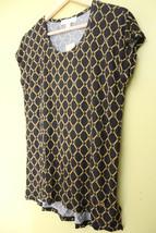 NWT MICHAEL Michael Kors Designer Gold Chain Link Black Knit Sexy Blouse XS $60 - $39.00