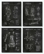 """4 Space Patent Prints - 8""""x10"""" Wall Art Decor - Great Gift for Aerospace Lovers - $12.95"""