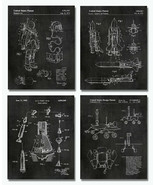 "4 Space Patent Prints - 8""x10"" Wall Art Decor - Great Gift for Aerospace Lovers - $12.82"