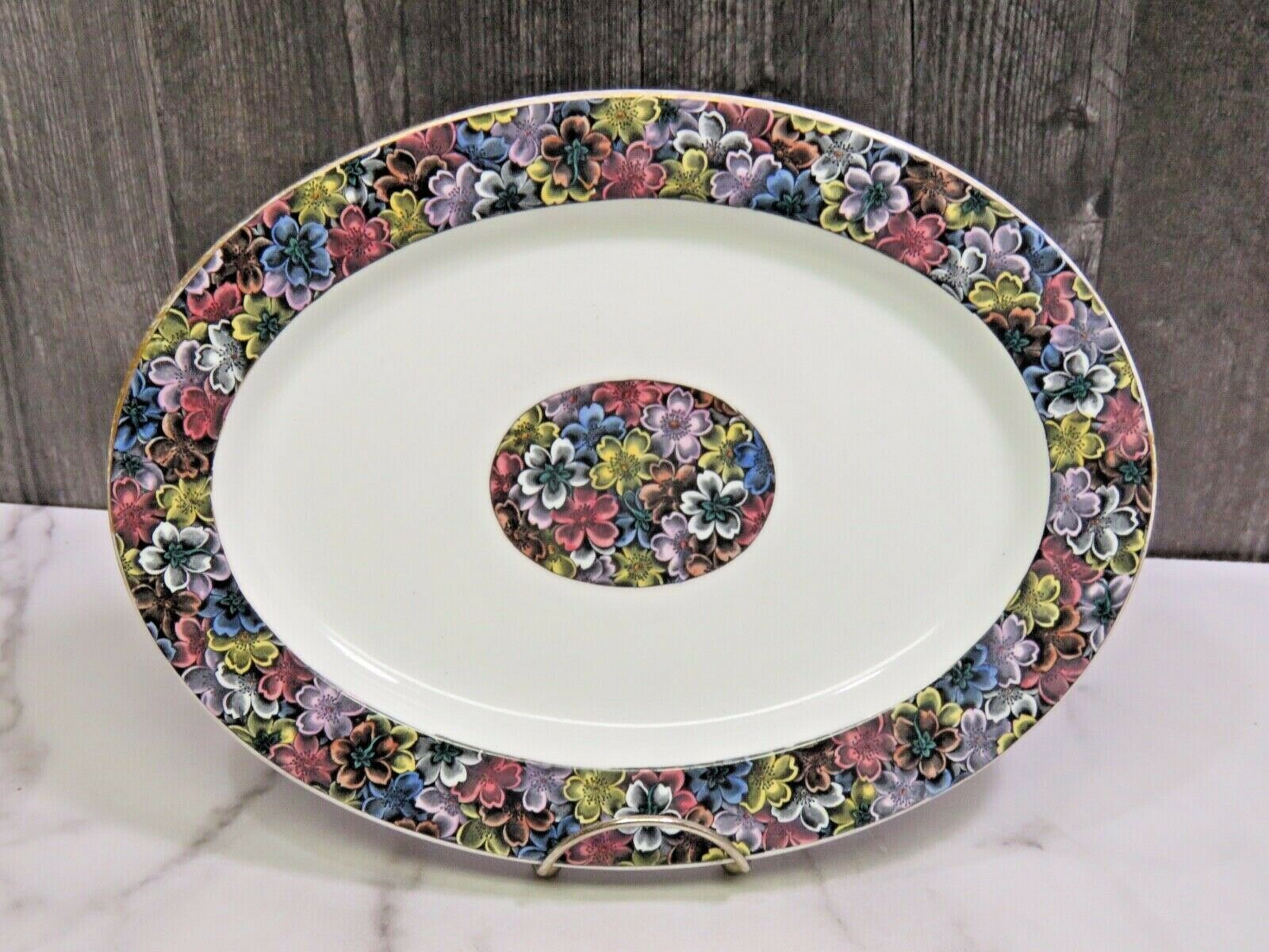 Primary image for Antique Royal Worcester for Tiffany & Co Imari Floral Oval Platter 11 5/8""