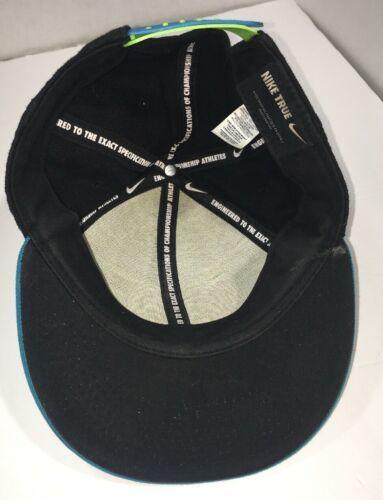 Vintage 90s Nike True Snapback Hat Just Do It Black Teal