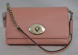NWT! Coach Crosstown Crossbody In Polished Pebble Leather in Blush Pink #53083 - $139.00