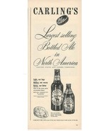 1947 Ad Vintage Carling's Red Cap Ale - $8.99