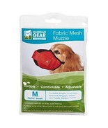 Guardian Gear Fabric MESH Dog MUZZLES Comfortable Soft Red Muzzle for Do... - $20.26