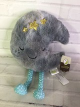 Animal Adventure Baby Crescent Moon Plush Stuffed Toy Gray Blue Polka Do... - $59.39