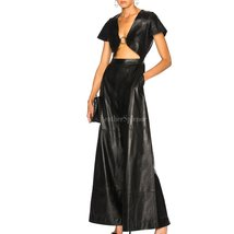 Sexy Cut-Out Style Leather Jumpsuit