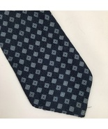 Calvin Klein Two Tone Blue Print silk men's business Tie - $14.95