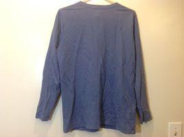 L.L. Bean Deep Periwinkle Blue Button Down Long Sleeve Sweater w Pockets Sz M image 4