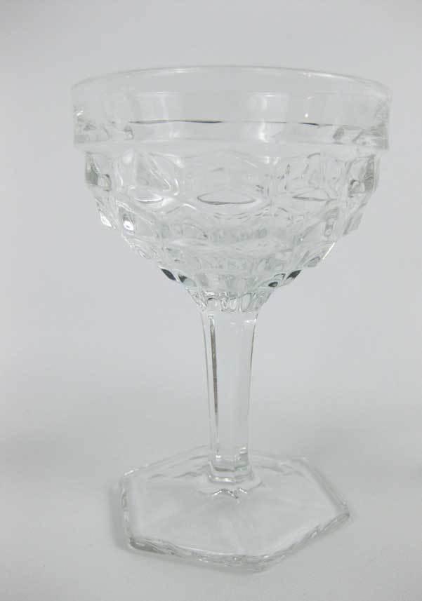 Vintage Fostoria American Clear (Stem 2056) Champagne/Tall Sherbet Glasses (3)