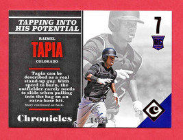 2017 Raimel Tapia Panini Chronicles Rookie Red 04/25 - Colorado Rockies - $1.89