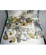 Vintage Lot Costume Jewelry Most Individually Bagged Variety C2870 - $61.75