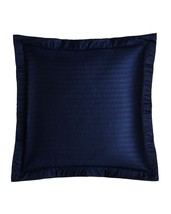 2 Ralph Lauren Reed Channel Stitch Quilted Euro shams Polo Navy NIP $290 - $107.62