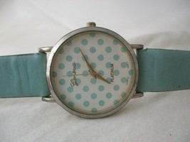 Geneva STYLISH Blue & Silver Toned Wristwatch w/ Adjustable Buckle Band - $29.00