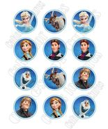 Frozen Edible Cupcake Images - Cupcake Toppers - $8.98+