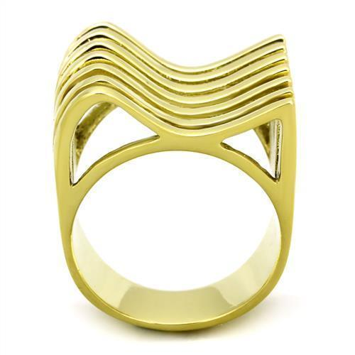 HOPE CHEST JEWELRY- WOMEN'S 22MM GOLD TONE STAINLESS STEEL WIDE BAND RING SIZE 7