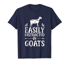 Easily Distracted By Goats Funny Goat Lover Gifts T Shirt - €16,59 EUR