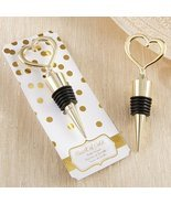 "Heart of Gold"" Bottle Stopper by Exclusively Weddings - $193,47 MXN"