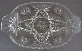 Anchor Hocking Early American Prescut EAPC Clear Glass Divided Relish Dish - $15.00