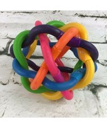 Baby Ball Multi Color Twisted Rubber Tubing Safe Teether Sensory Easy-Gr... - $9.89