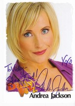 ANDREA JACKSON AUTOGRAPHED 7 X 5 PHOTO THE DAILY BUZZ INSCRIBED  - $8.58