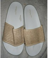 AMERICAN EAGLE OUTFITTERS Light Tan slides cord tan size 8 - $26.41 CAD
