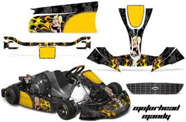 Go Kart Graphics Kit Decal Sticker Wrap For Righetti Ridolfi XTR14 MOTOMY BLACK - $197.95