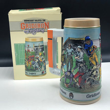 GRIDIRON LEGACY BUDWEISER BEER stein cup mug limited edition football An... - $34.83