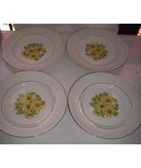 """Staffordshire England SUMMERTIME Bread / Butter Plates 6""""  Daisies-Gold ... - $19.99"""