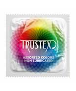 Trustex Assorted Colors Non-Lubricated Latex Condoms - Choose Quantity - $6.14+
