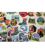 40 Adult & Children Waterproof Vinyl Hiking and Camping Decals Stickers New - $6.49
