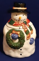 Snowman Cookie Jar Container- Gibson Housewares- Great Collectible  - $19.99