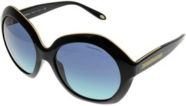 Tiffany & Co. Sunglasses Oversized Women Black GoldTF4116 80019S - $321.75