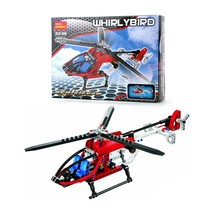 HL with box DIY 150pcs Technic Rescue Helicopter minifigure blocks lego ... - $48.50