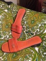 MONTEGO BAY CLUB LEATHER COLLECTION ORANGE SANDALS WOMEN'S SIZE 7M SLIP ... - $24.74