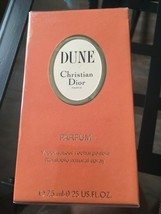 RARE DUNE PARFUM by Christian Dior 0.25oz/ 7.5ml new&sealed - $107.91