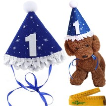 Blue Pet Dog Cat Birthday Holiday Party Hat Headwear Costume Accessory w... - $19.85