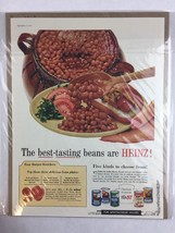 Vintage 1957 Heinz Beans Food Art Print Collectible Advertisement 10 x 14 - $19.80