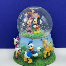 Walt Disney snowglobe Mickey Mouse Minnie donald daisy duck goofy pluto snowdome - $91.74