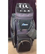 Datrek Black And Dark Blue Cart Golf Bag 15 Way With Putter Holder - $44.55